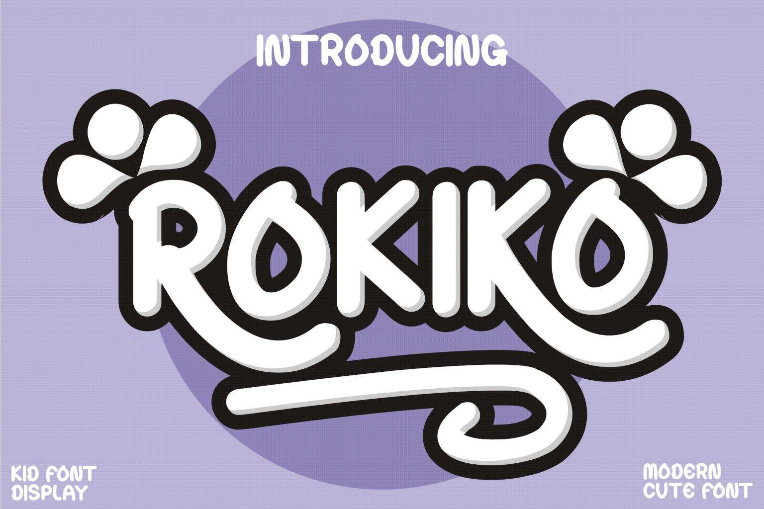 Rokiko Display Font
