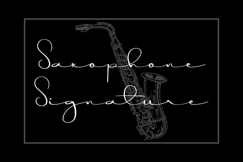 Saxophone Signature Script Font