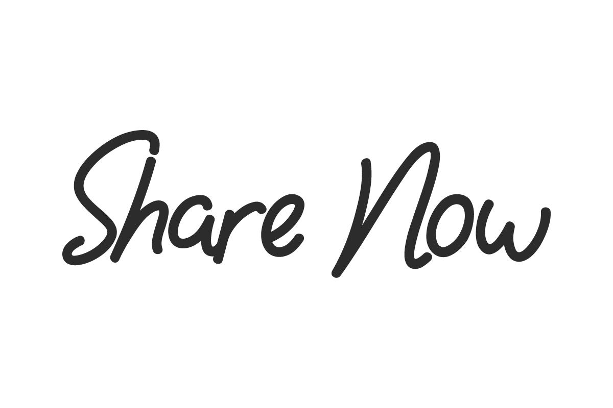 Share Now Handwritten Font