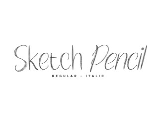 Sketch Pencil Brush Font