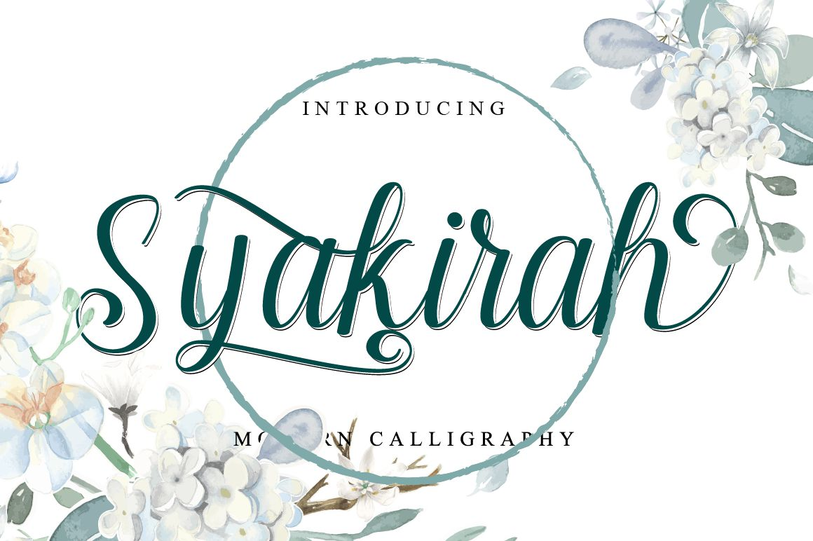 Syakirah Calligraphy Font