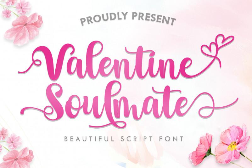 Valentine Soulmate Script Font