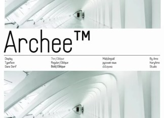 Archee Sans Serif Font
