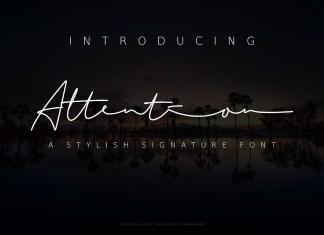 Attention Handwritten Font