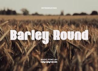 Barley Round Display Font