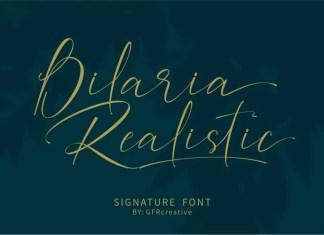 Bilaria Realistic Calligraphy Font