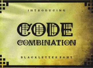 Code Combination Blackletter Font