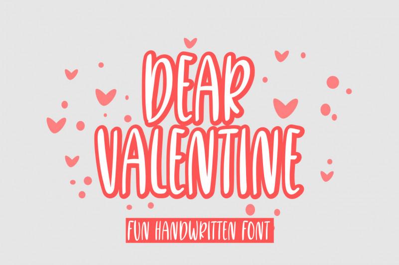 Dear Valentine Font