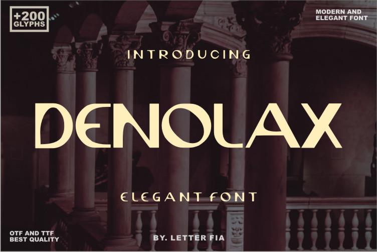 Denolax Display Font