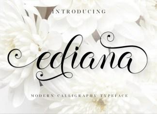 Ediana Calligraphy Font