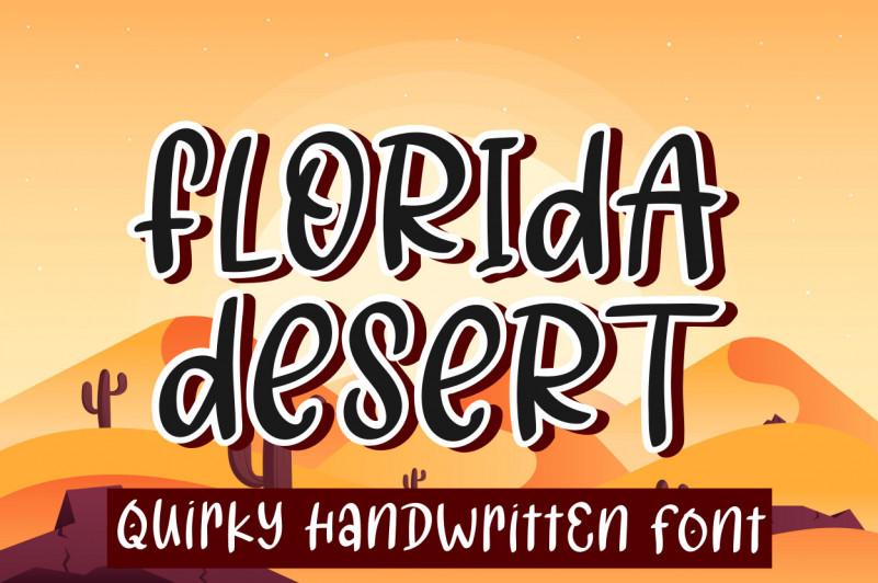 Florida Desert Display Font