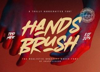 Hands Brush Script Font