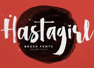 Hastagirl Brush Font