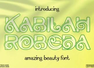 Kabilah Robeda Display Font