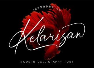 Kelarisan Script Font