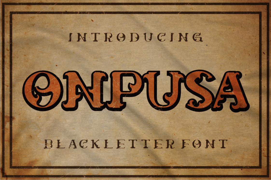 Onpusa Display Font
