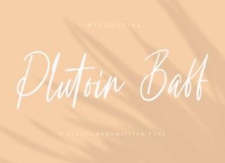 Plutoin Baff Script Font