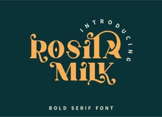 Rosita Milk Serif Font