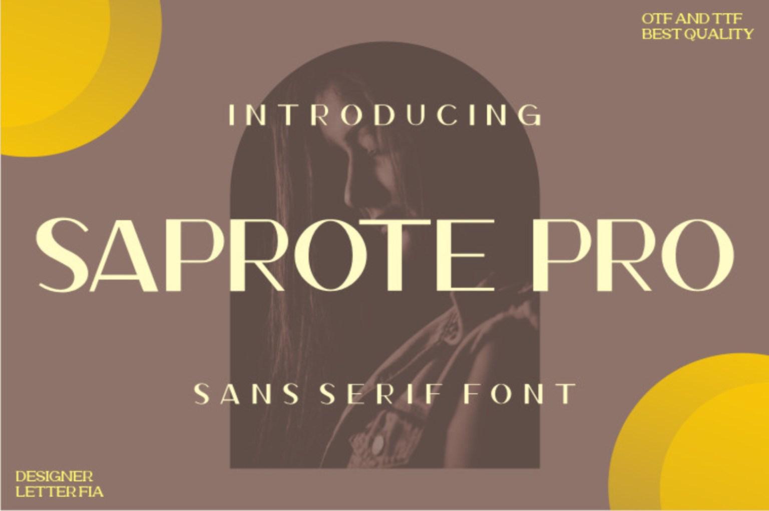 Saprone Sans Serif Font