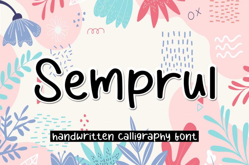 Semprul Script Font