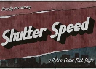 Shutter Speed Sans Serif Font