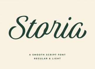 Storia Bold Script Font