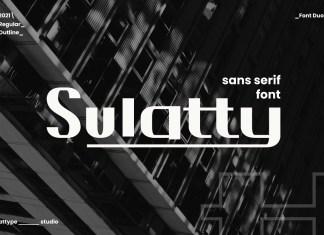 Sulatty Sans Serif Font