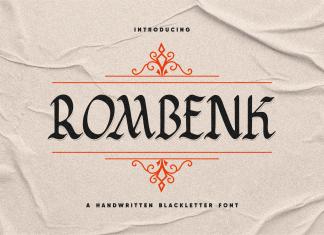 Rombenk Blackletter Font