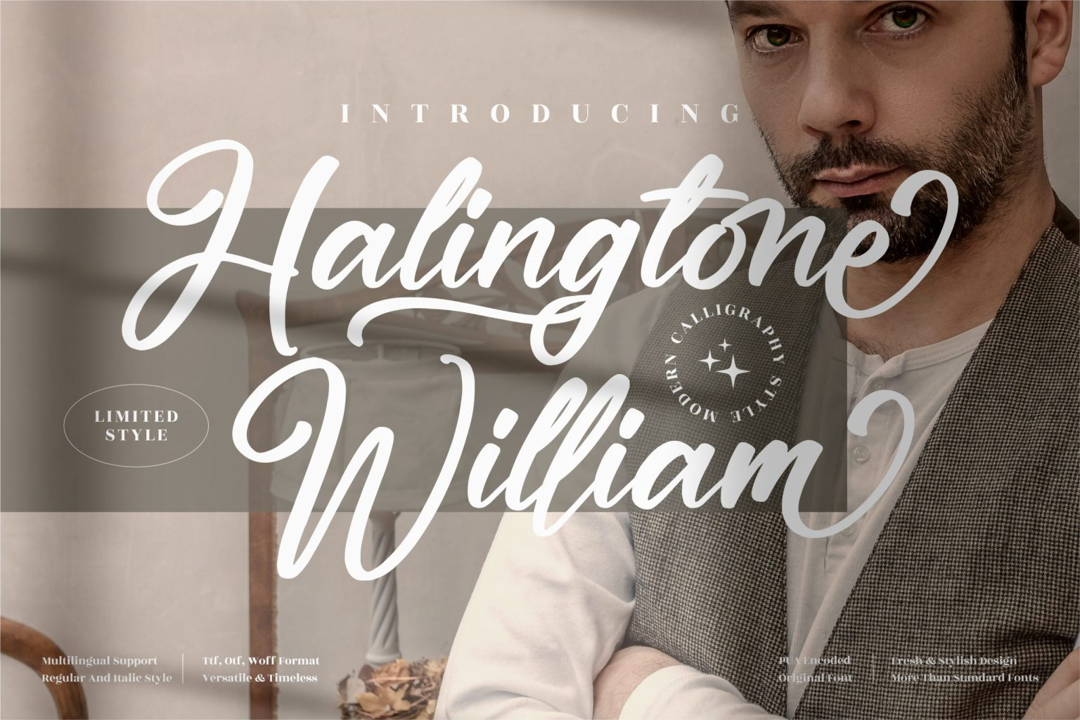 Halingtone William Font