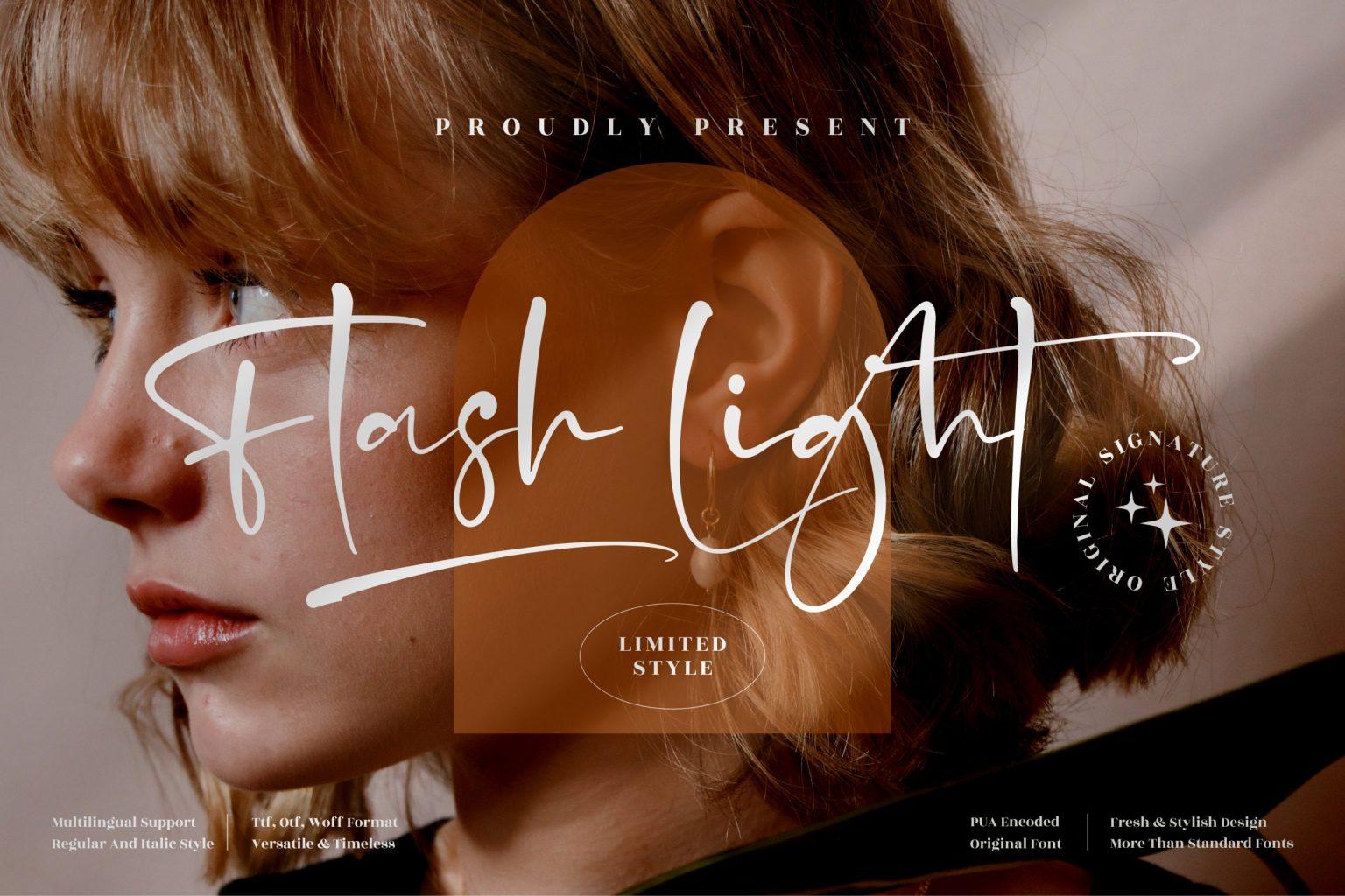 Flash Light Font