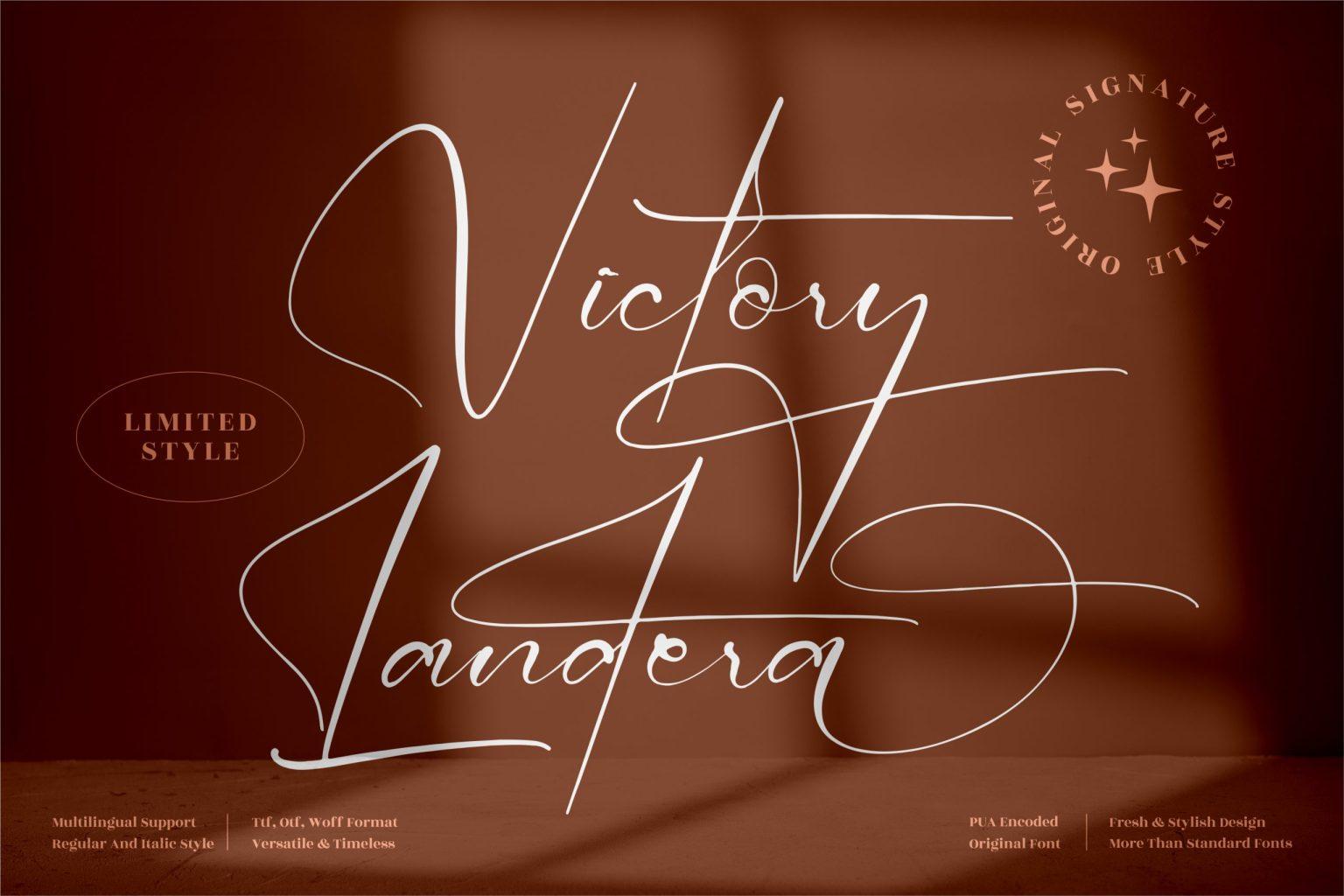 Victory Landera Font