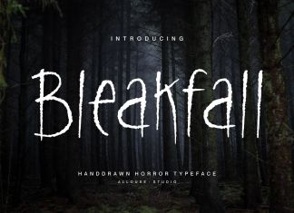 Bleakfall Display Font