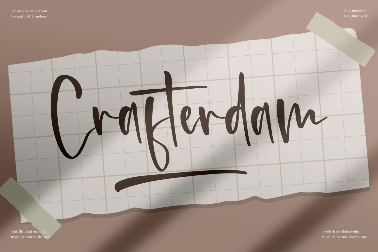 Crafterdam Calligraphy Font