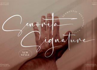 Senorita Signature Script Font