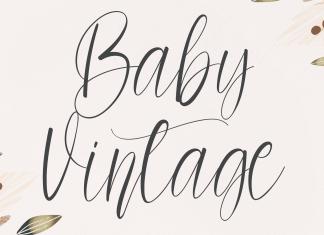 Baby Vintage Script Font