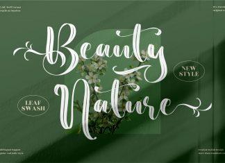 Beauty Nature Script Font