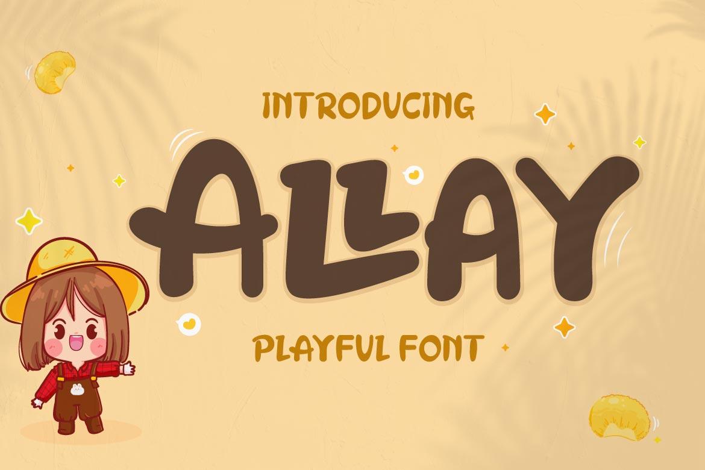 Allay Display Font