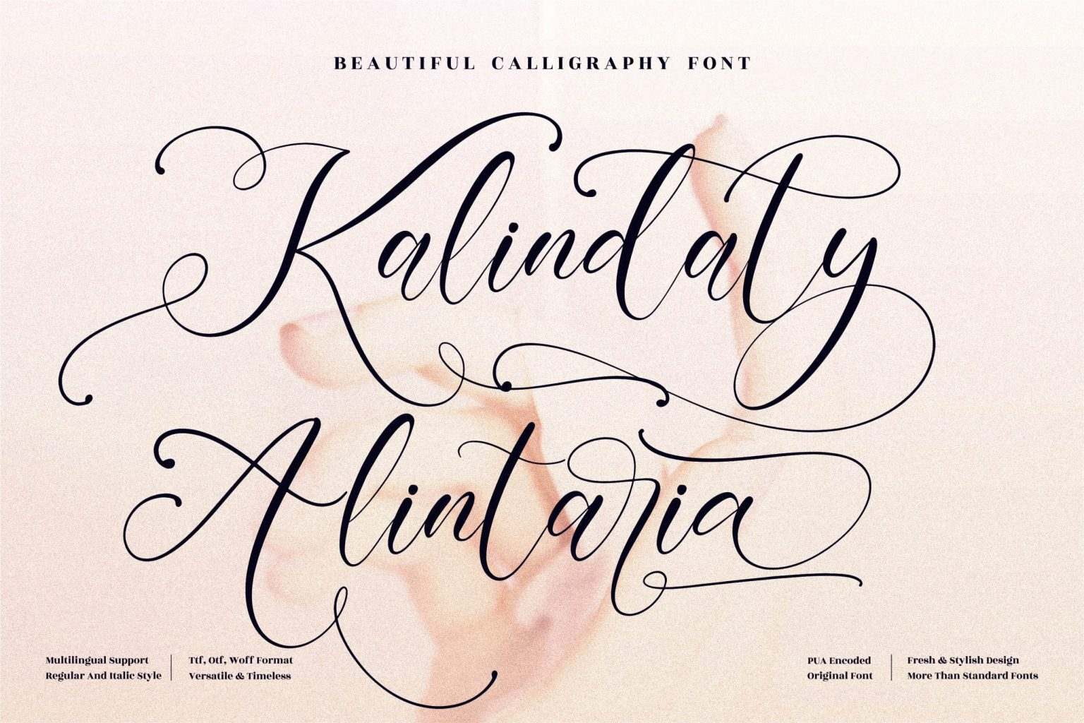 Kalindaty Alintaria Calligraphy Font