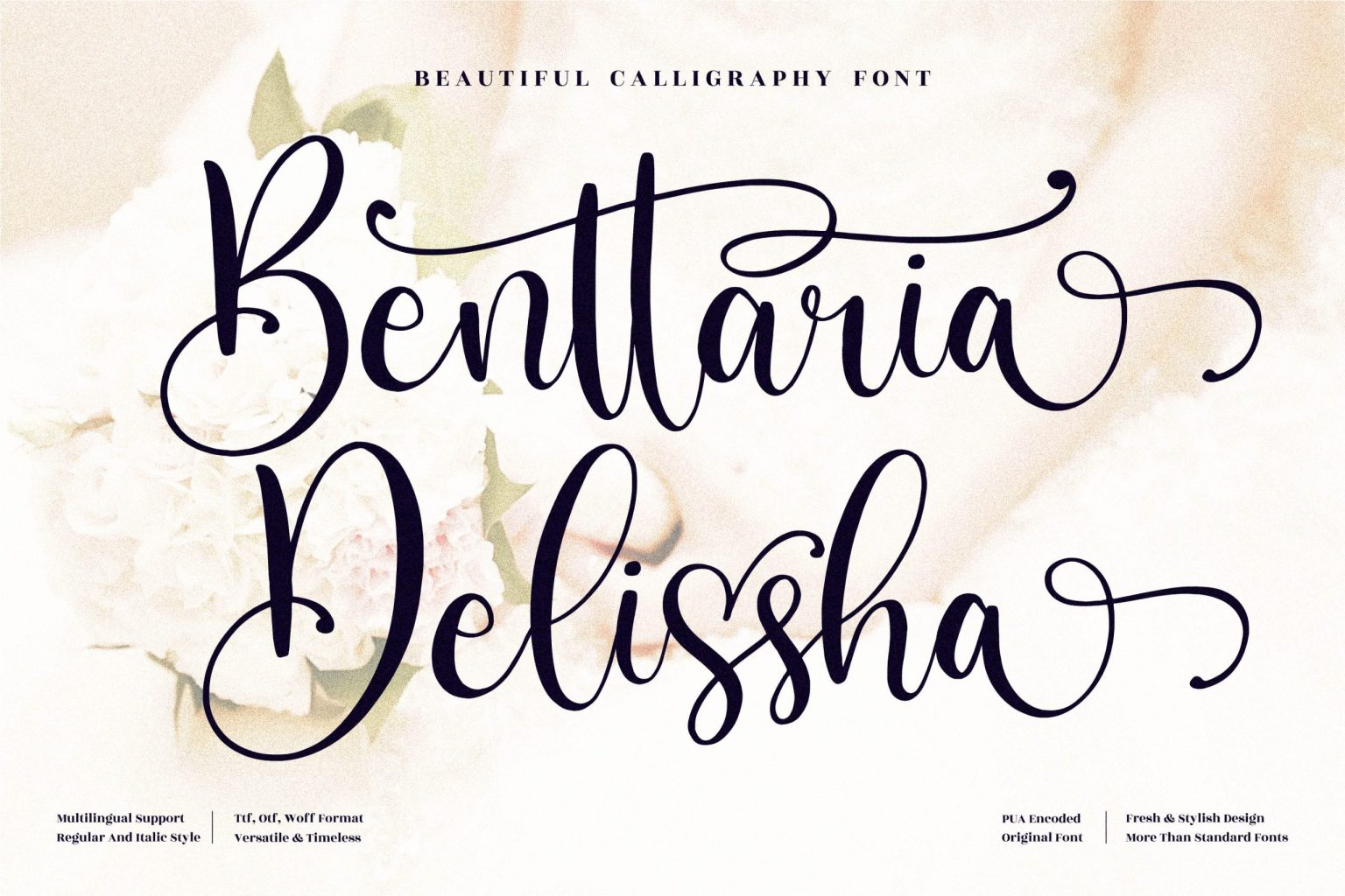 Benttaria Delissha Calligraphy Font