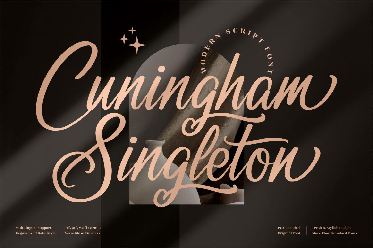 Cuningham Singleton Script Font
