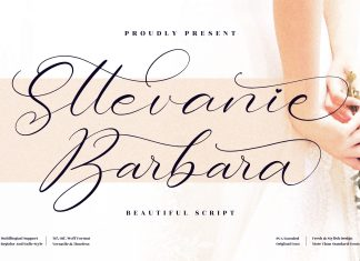 Sttevanie Barbara Calligraphy Font