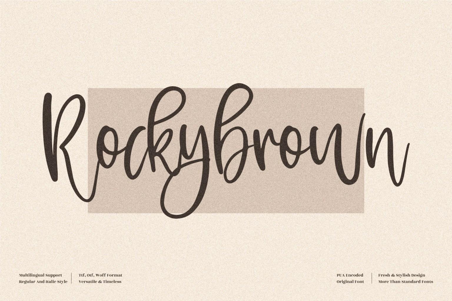 Rockybrown Script Font