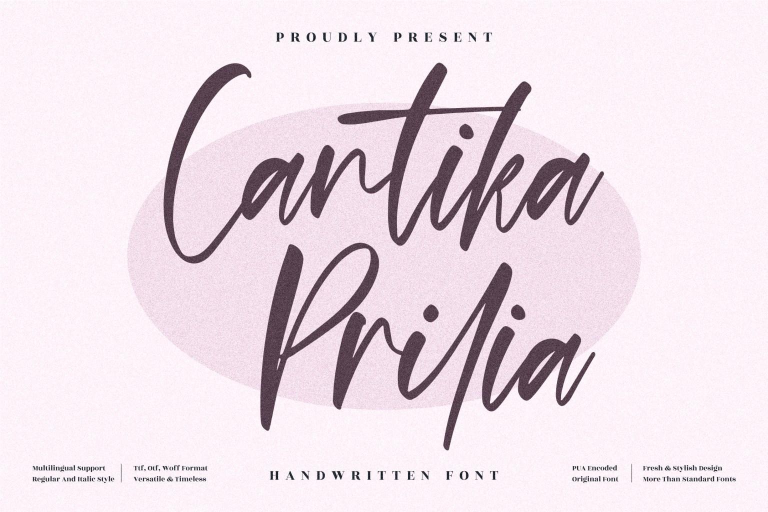Cantika Prilia Script Font