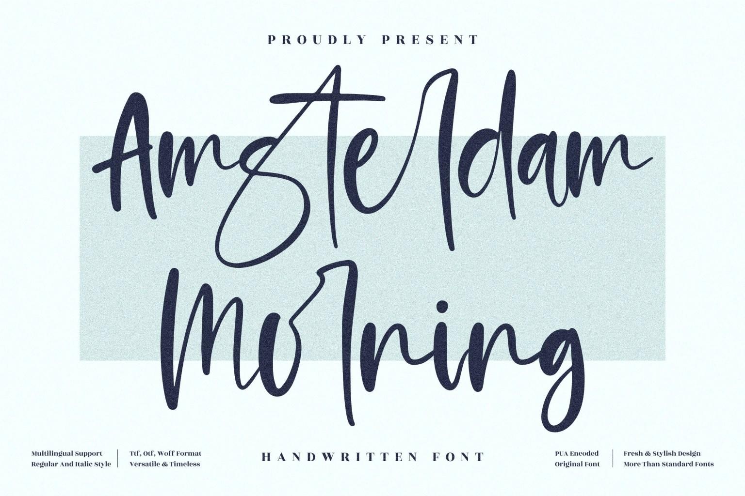 Amsterdam Morning Script Font