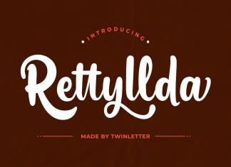 Rettyllda Script Font