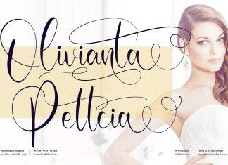 Olivianta Pettcia Calligraphy Font
