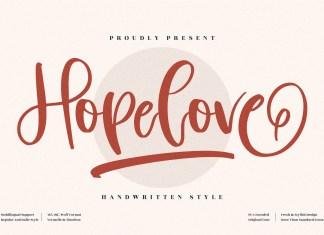 Hopelove Script Font