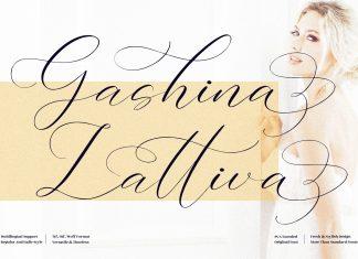 Gashina Lattiva Calligraphy Font