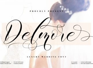 Delmore Calligraphy Font