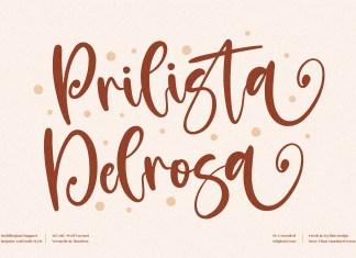 Prilista Delrosa Script Font